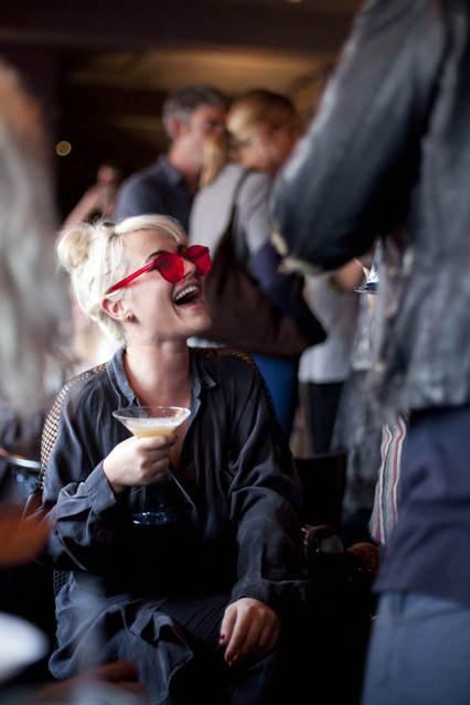Jaime Winstone at House of Hackney Gin Den at Bistrotheque infused with imagination by Bombay Sapphire.jpg