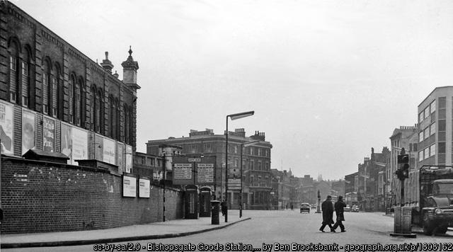 Bishopsgate goods station in 1962