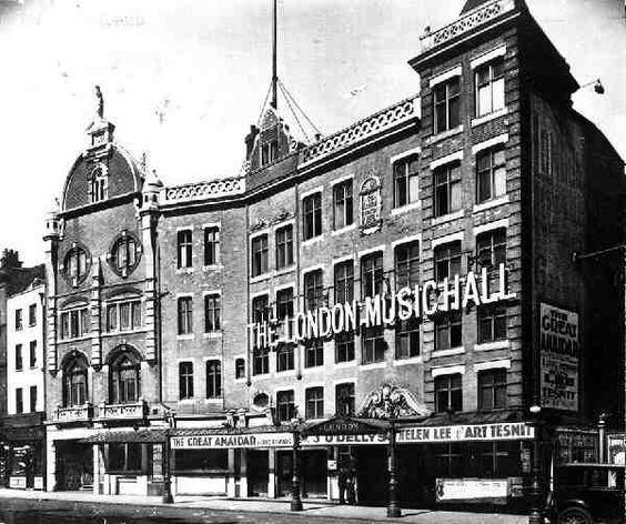 London Music Hall in the early 1900s:apps.hackney.gov.uk