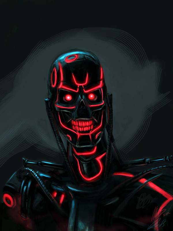 Mash-up Terminator-Tron by  wynahiros (via Deviant Art)