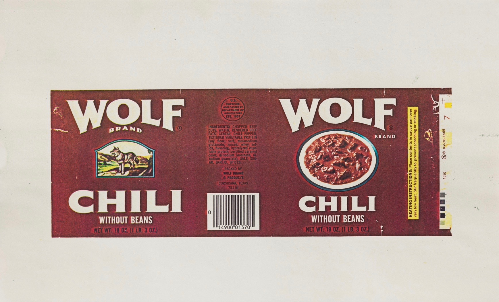 Hollis Frampton | Chili Brand Wolf Without Beans (1983)