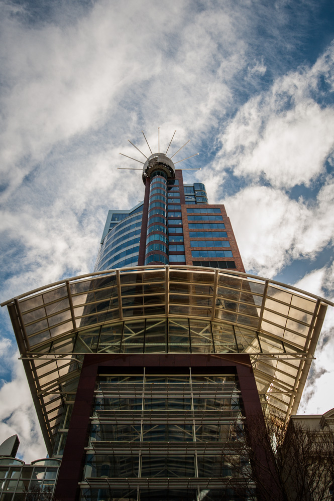 The Majestic centre, tallest building in Wellington. I was standing right here at 2:30pm