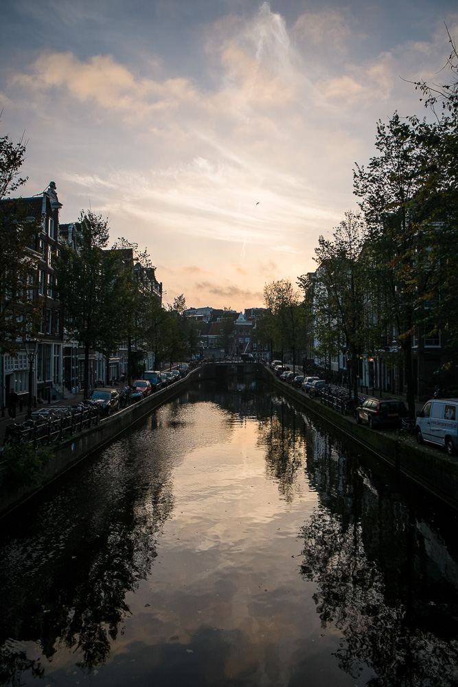 Early morning Amsterdam canal