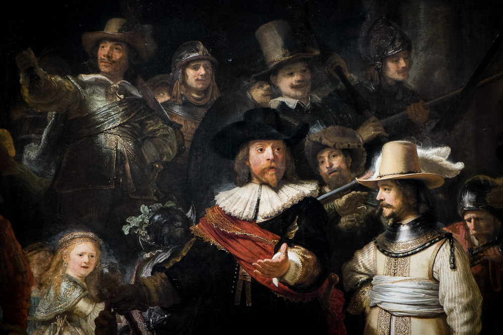 Central detail of The Night Watch - Rembrandt
