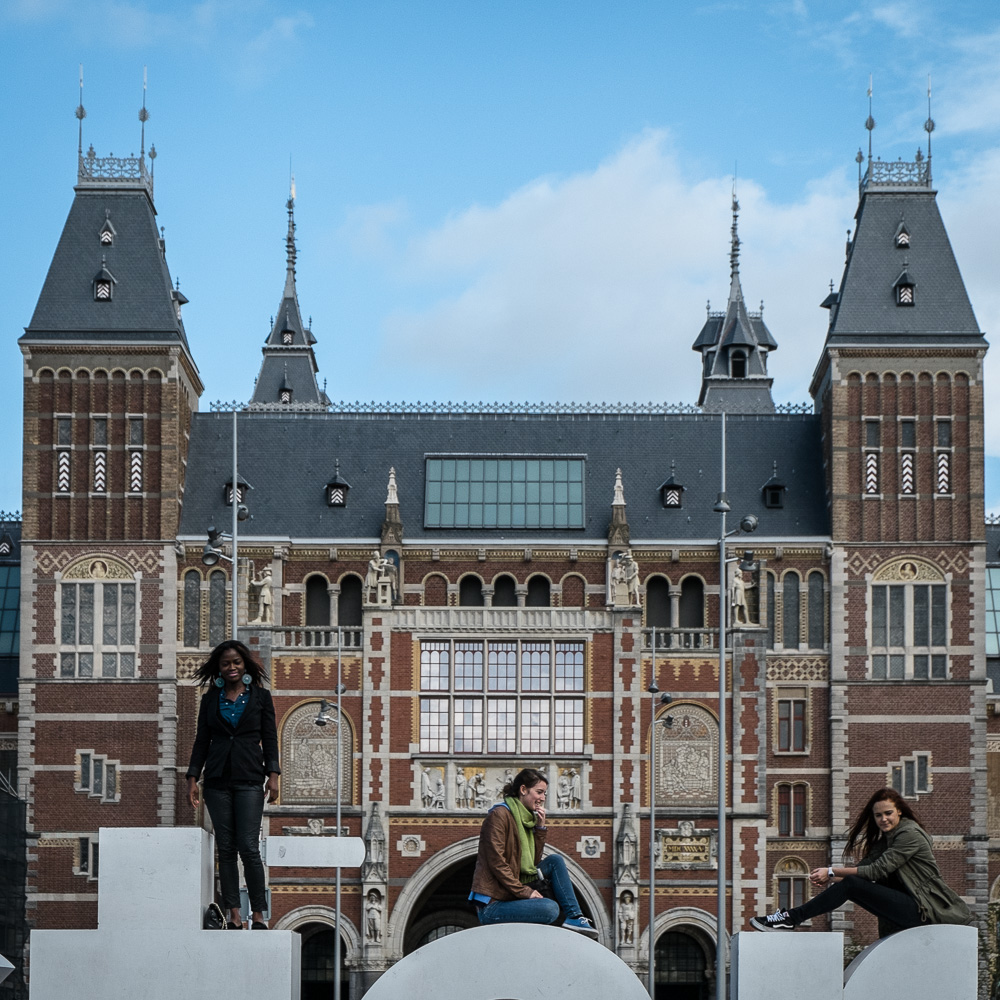 Rijksmuseum over the 'I Amsterdam' sign