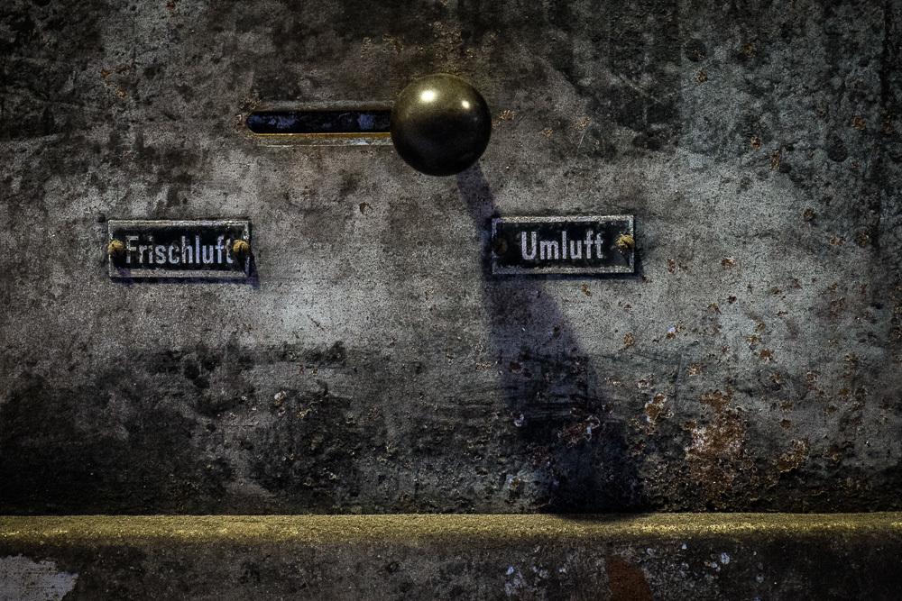Zeche Zollverein coal mine - air flow ('luft') control valve