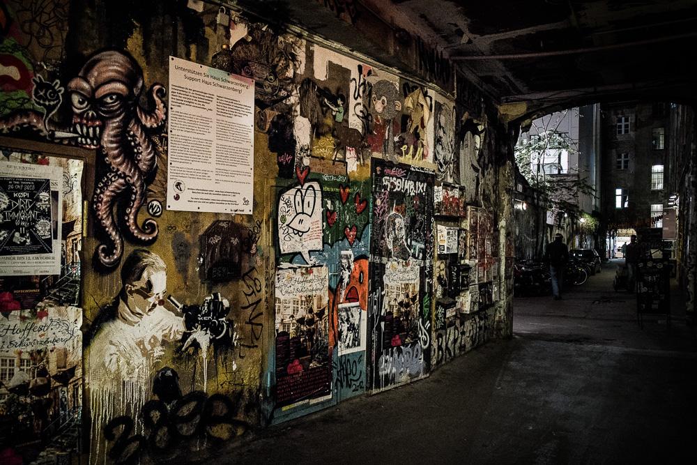 Exploring interesting alleyways near the hackesche hof