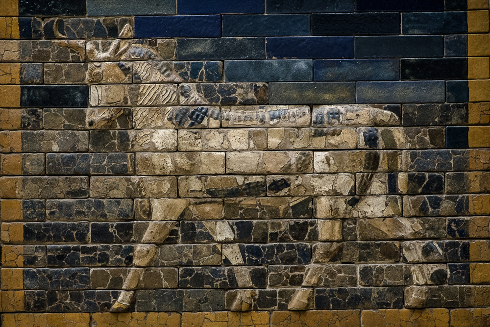 Mural from the Ishtar Gate of Babylon at the Pergamon Museum