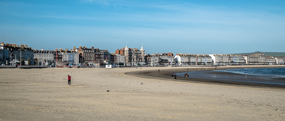Pretty quiet on the beach at Weymouth in November