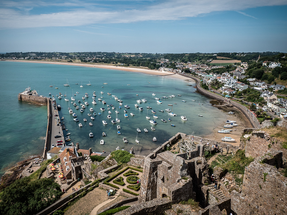 The view from Mont Orgueil over Gorey Harbour