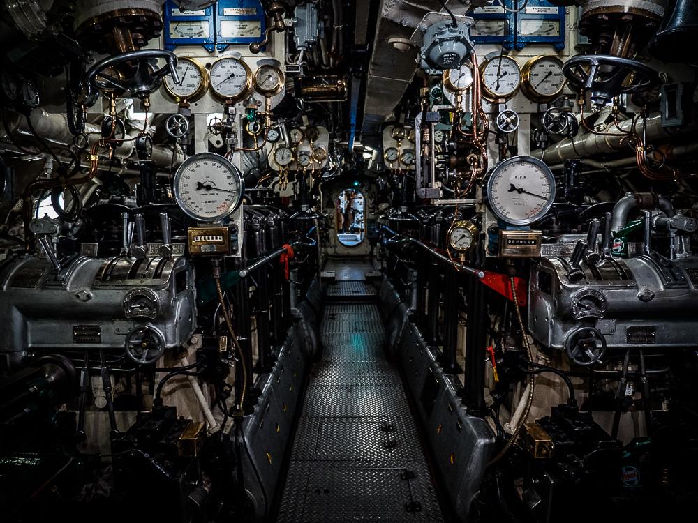 HMS Alliance engine room