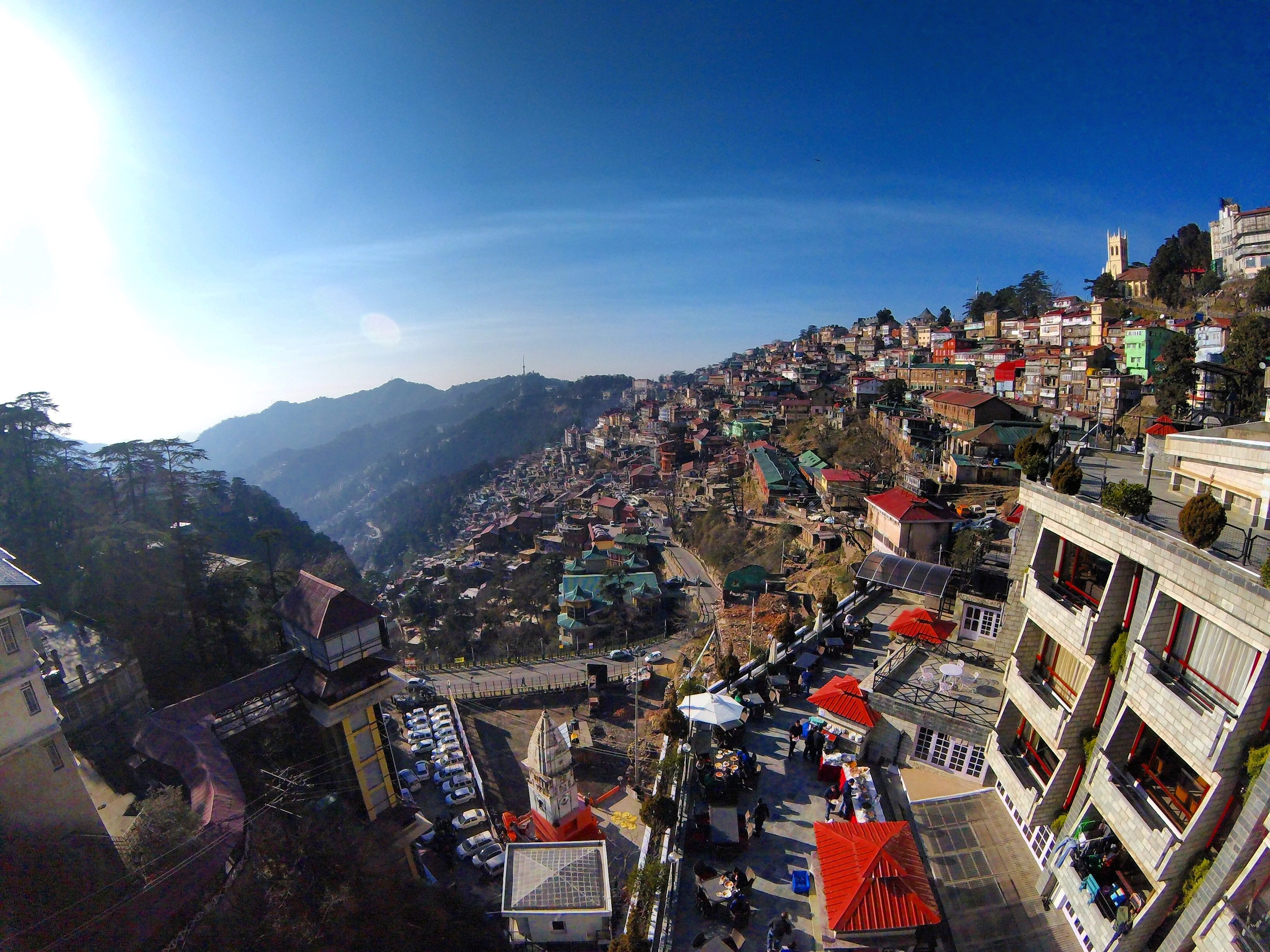 The view in Shimla.