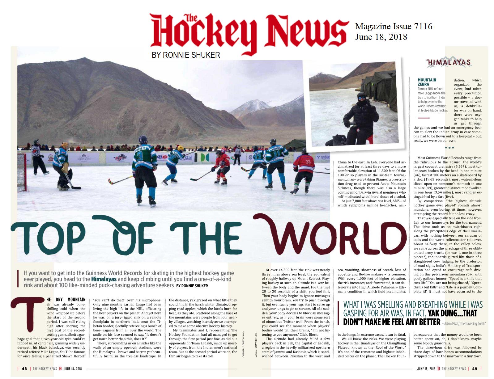 Hockey News Mag Article