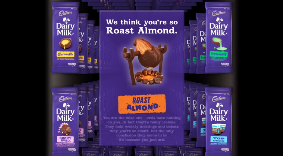 Cadbury created a personalised flavour-matching Facebook powered vending machine, to choose which flavour best resonates with your personality.