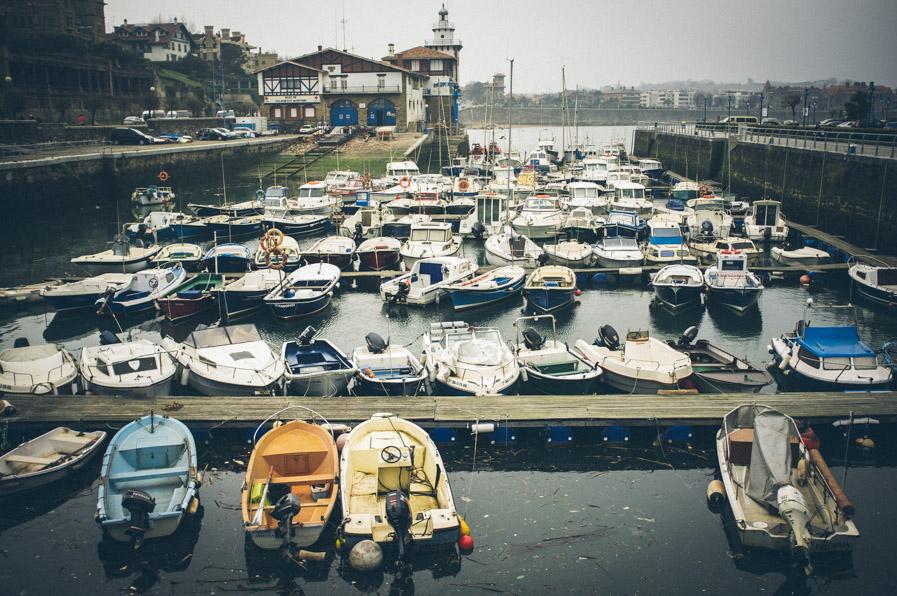 """Creemos que el puerto de Getxo estaba """"así"""" debido a un temporal que hubo hace unas semanas."""