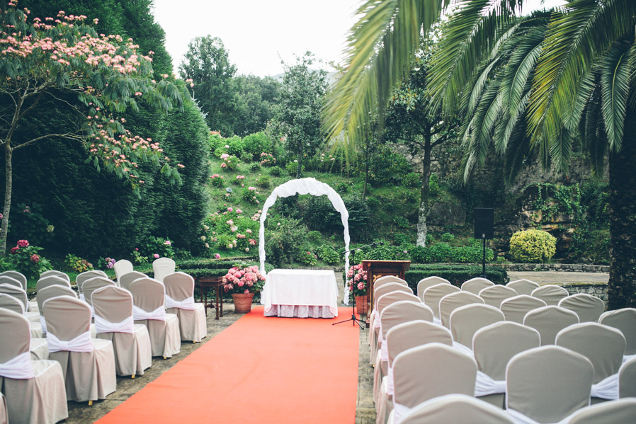 El lugar de la ceremonia, horas antes de que todo comenzase.