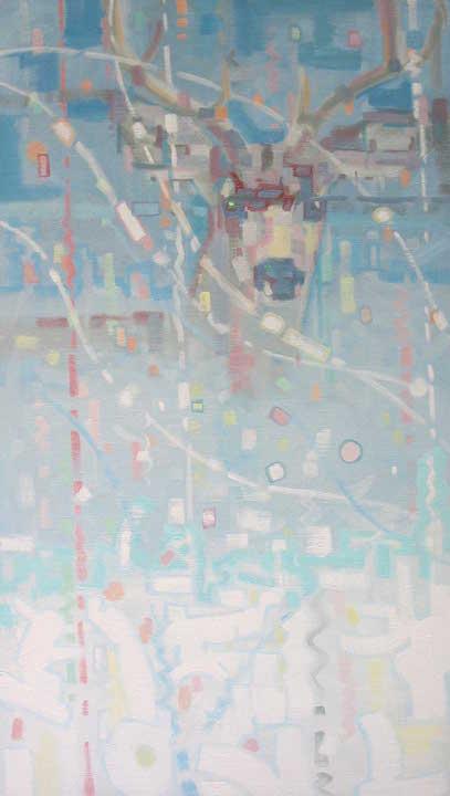 """Snowy Survey  Oil on Canvas  36"""" x 20"""""""