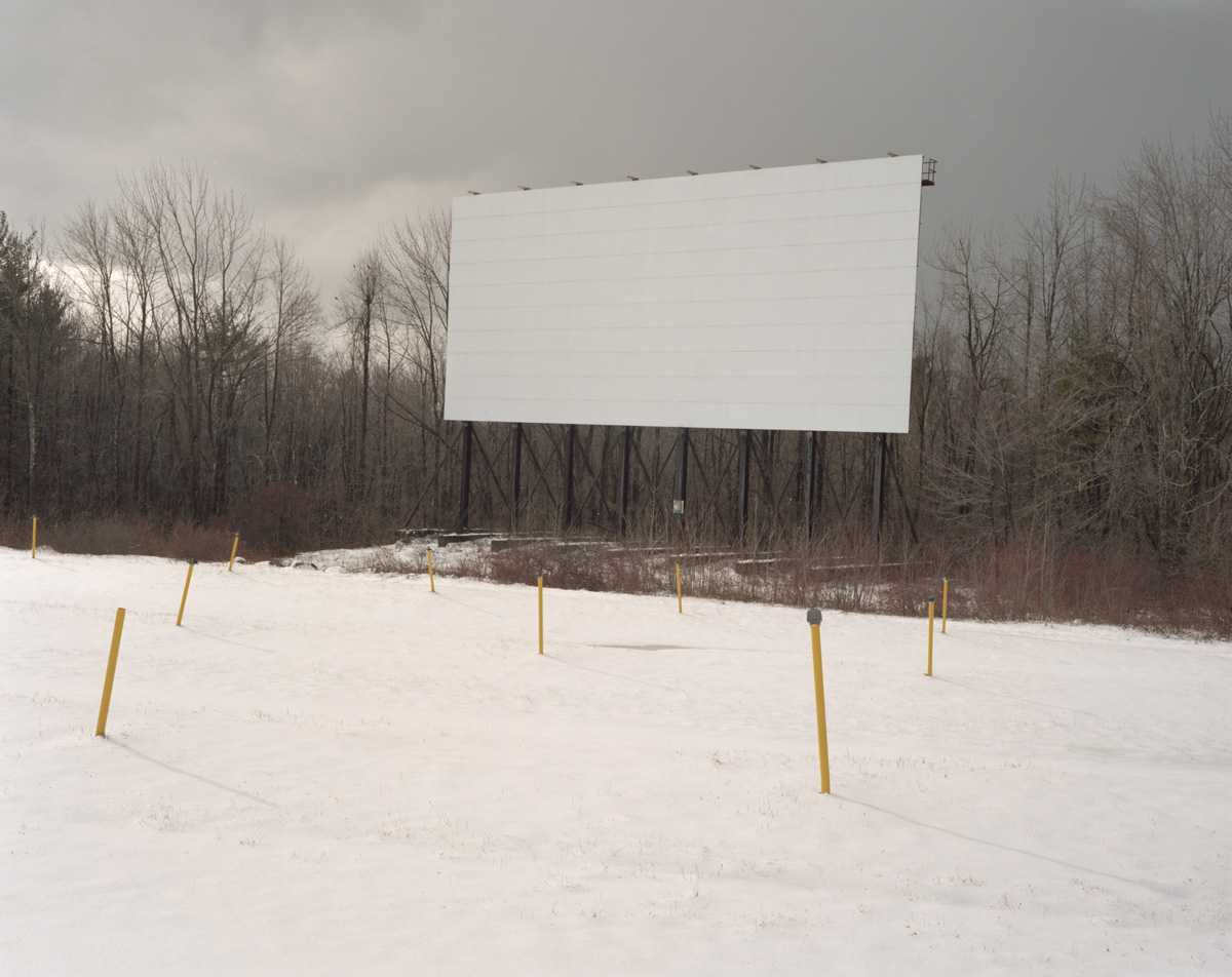 Leicester Mass, 2012: Leicester Triple Drive-In, off season