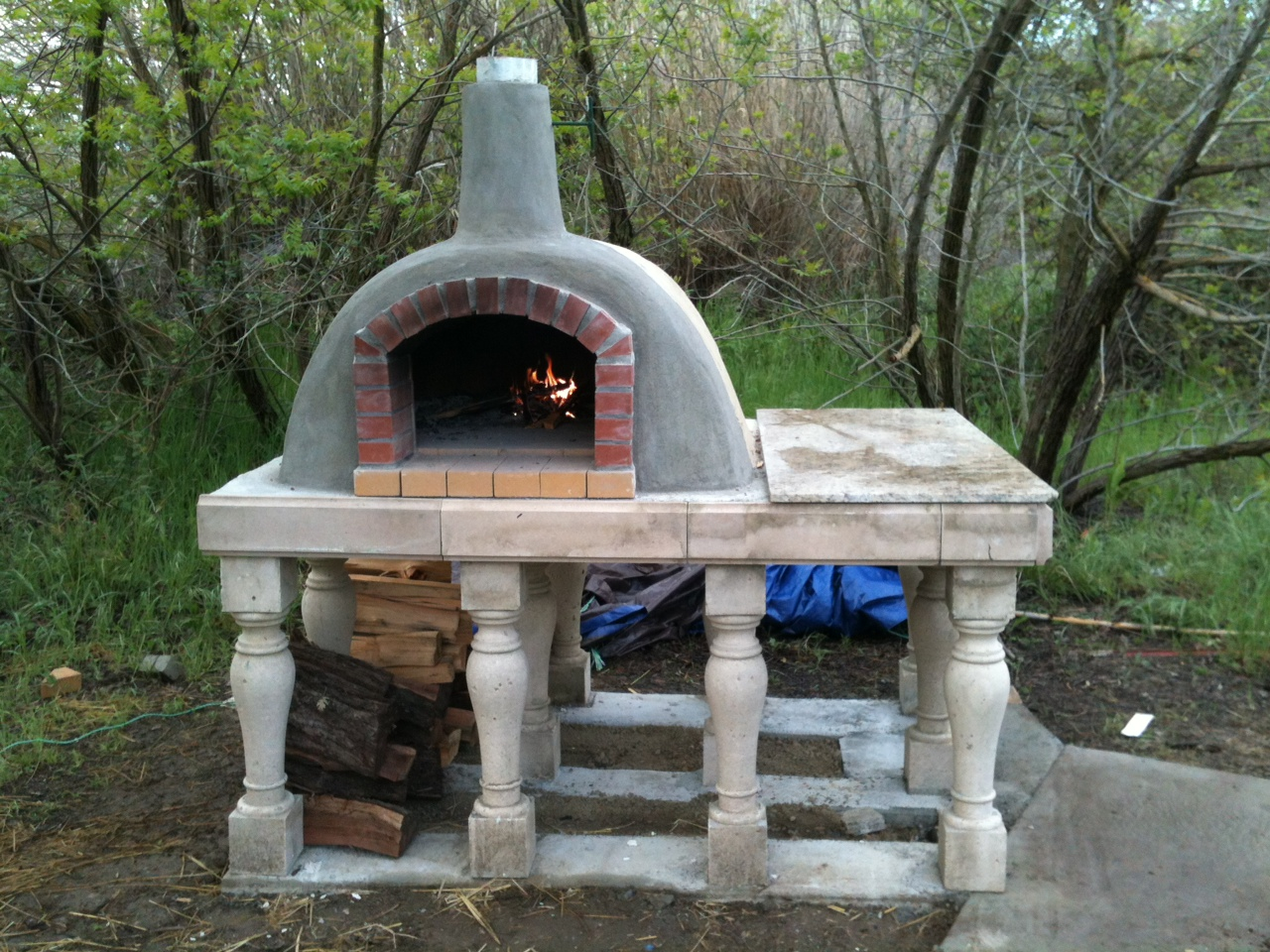 """Yurt Oven"" 41""x 48"" cooking floor 2010"