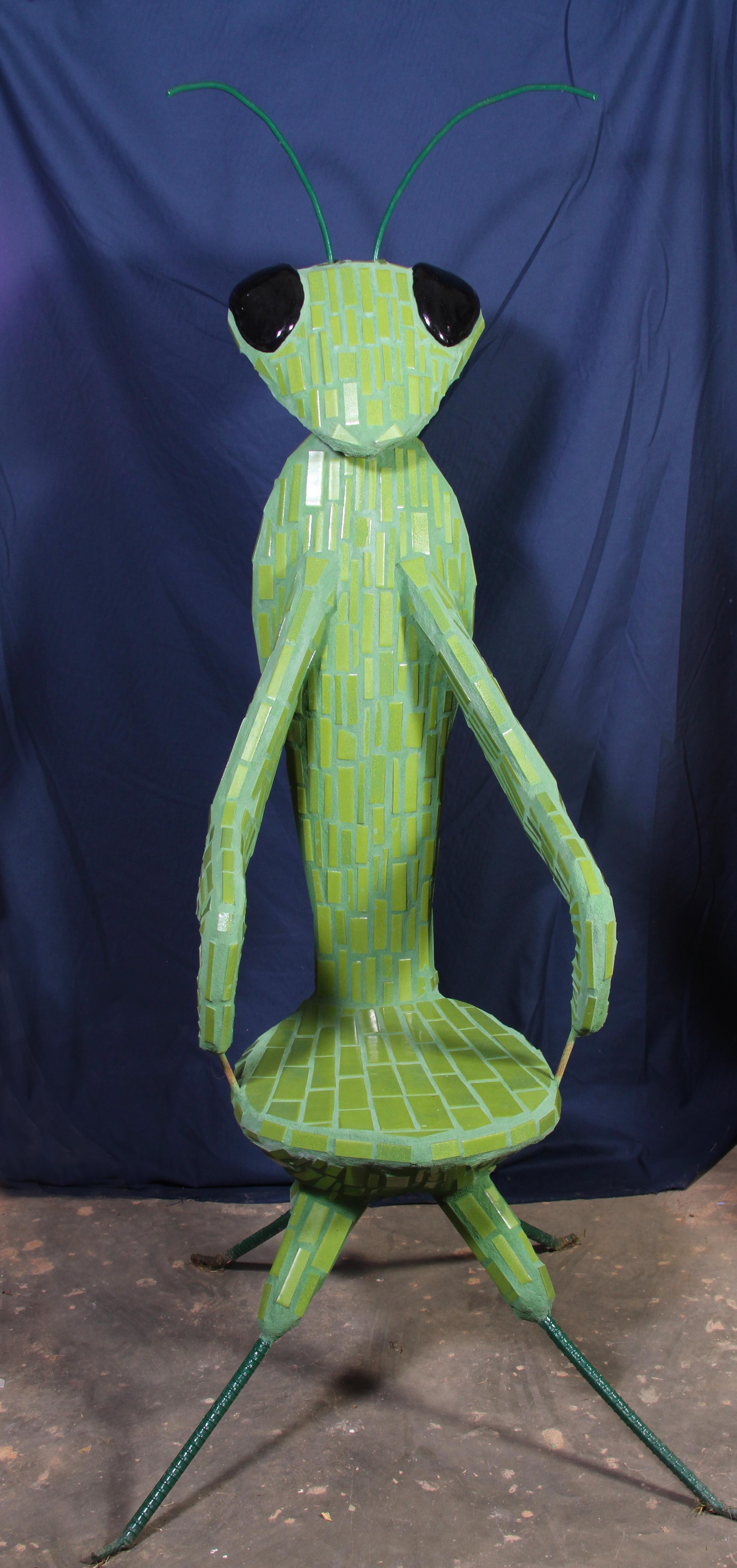 """Mantis Seat"" 59""x36""x42"" Ceramic, mosaic, steel, and cement 2012"