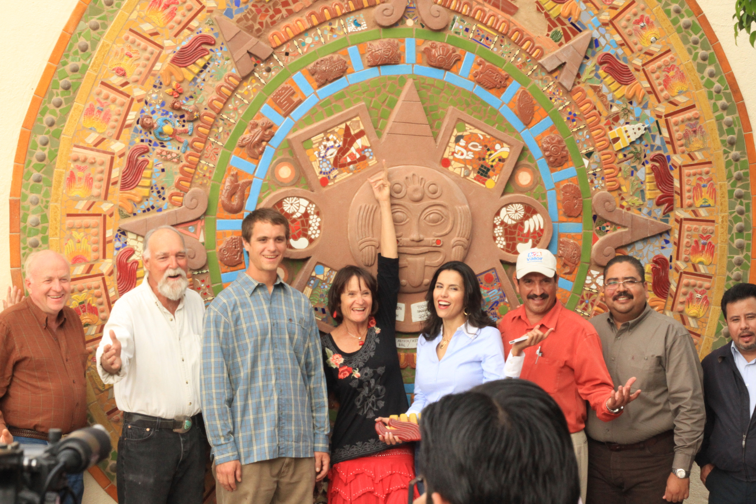 Aztec Calendar Mural Heaven on Earth Worksop and Community-Build 2012 Town Plaza, Todos Santos, B.C.S., Mexico