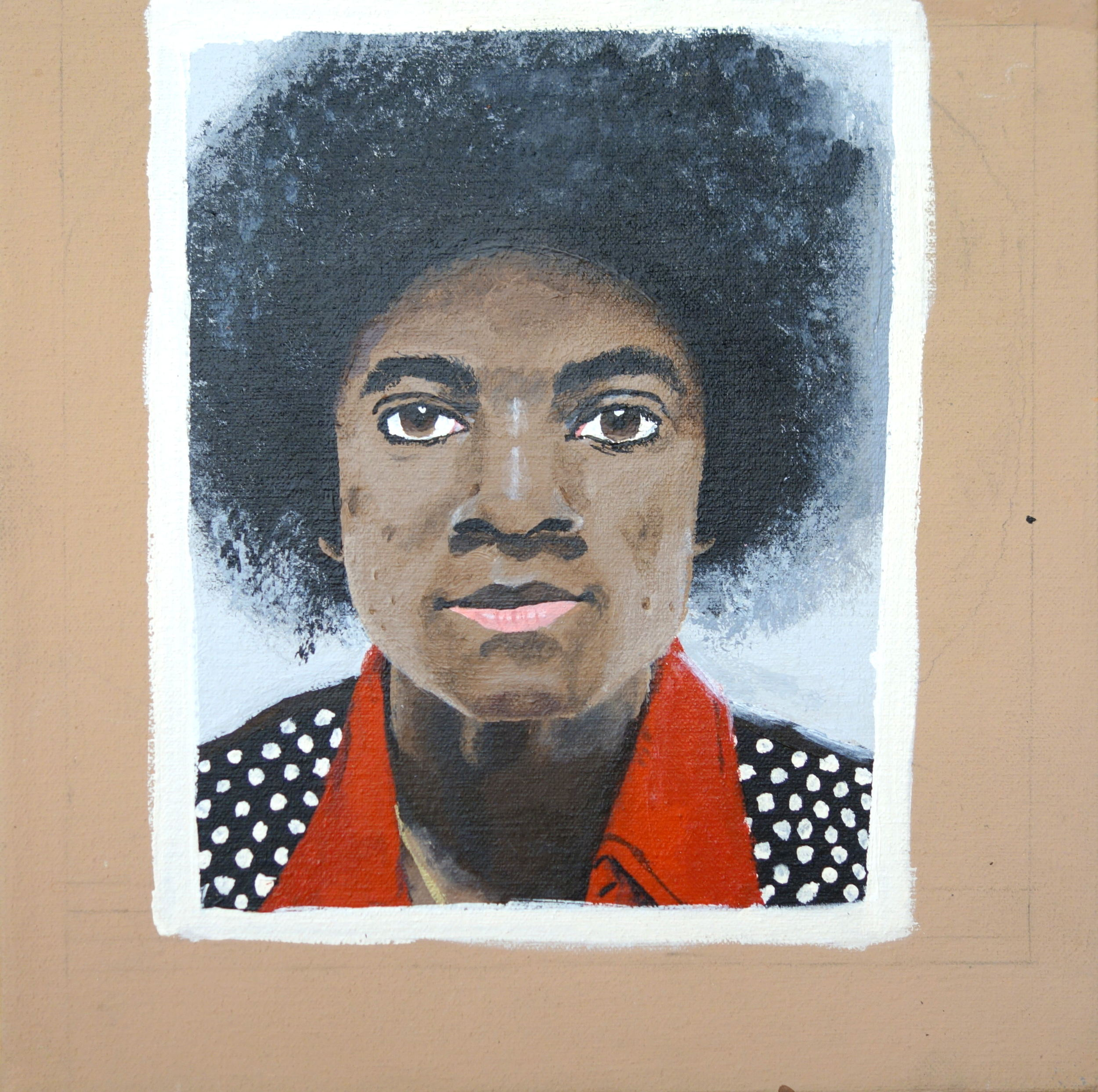 "Myasia Dowdell, Michael Jackson, 2014, Acrylic on Canvas, 10""x10"""