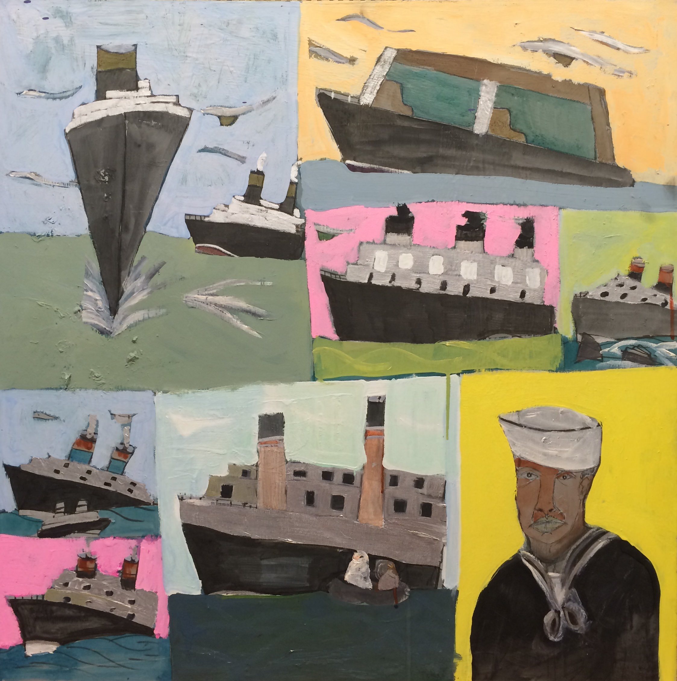 "Robert Latchman, Peter the Sailor, 2012, Acrylic on Canvas, 30""x30"""