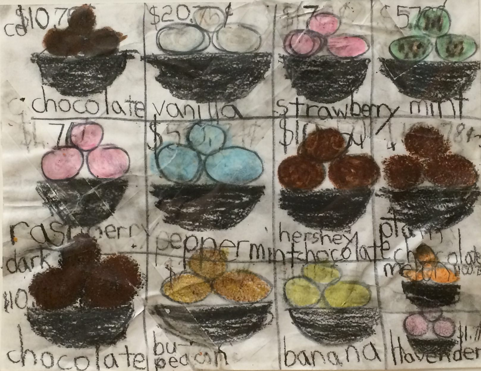 "Drew Haigler, Eggs, 2008, Mixed Media on Paper, 8.5""x11"""