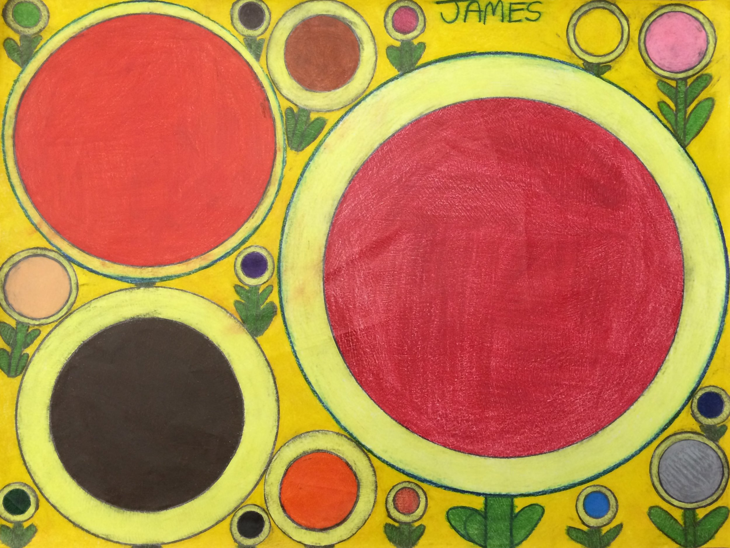 """James Rosa, Untitled, 2015, Mixed Media on Paper, 18""""x24"""""""