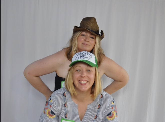 Karissa and me clowning around at the photo booth.