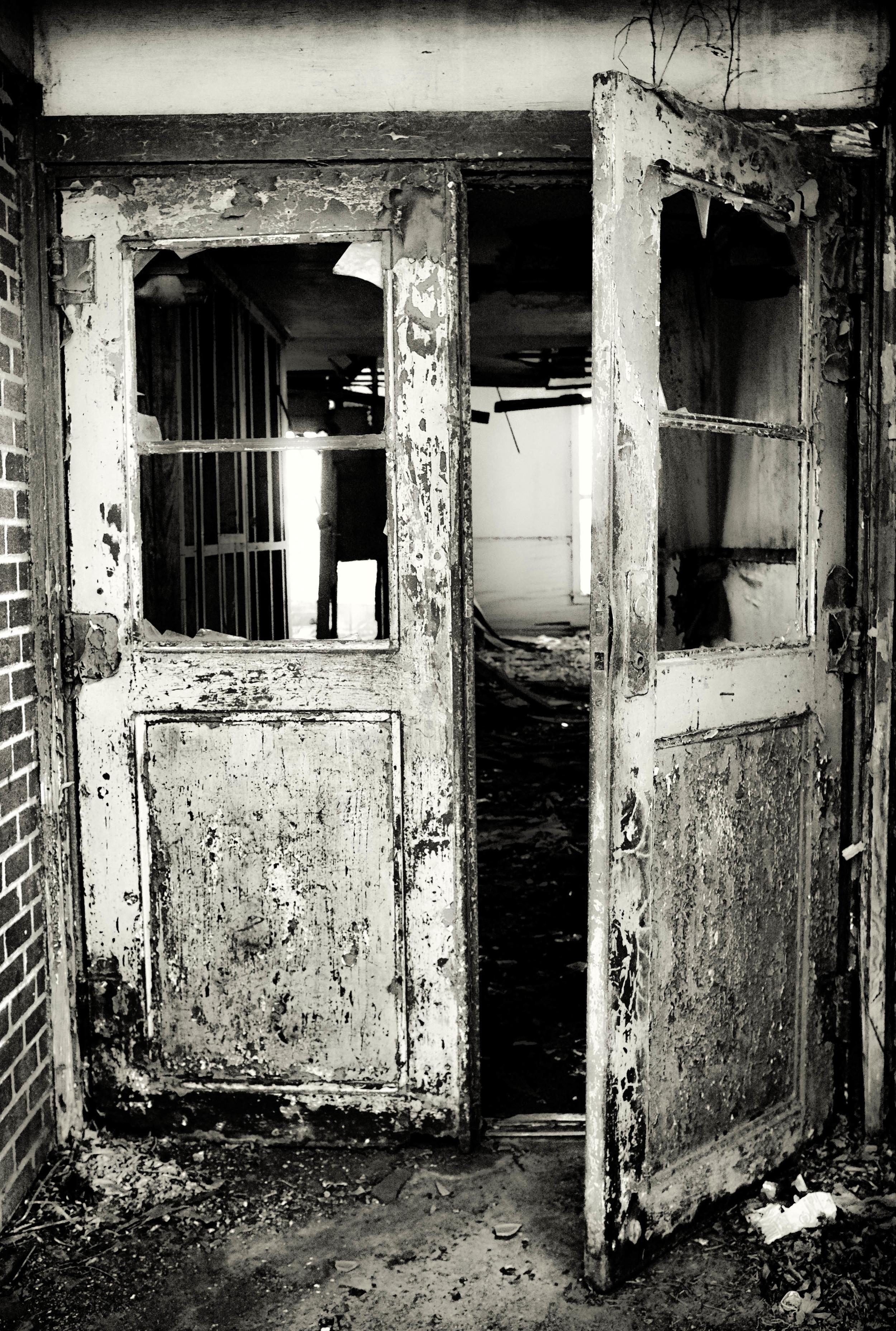 Doors to the abandoned school