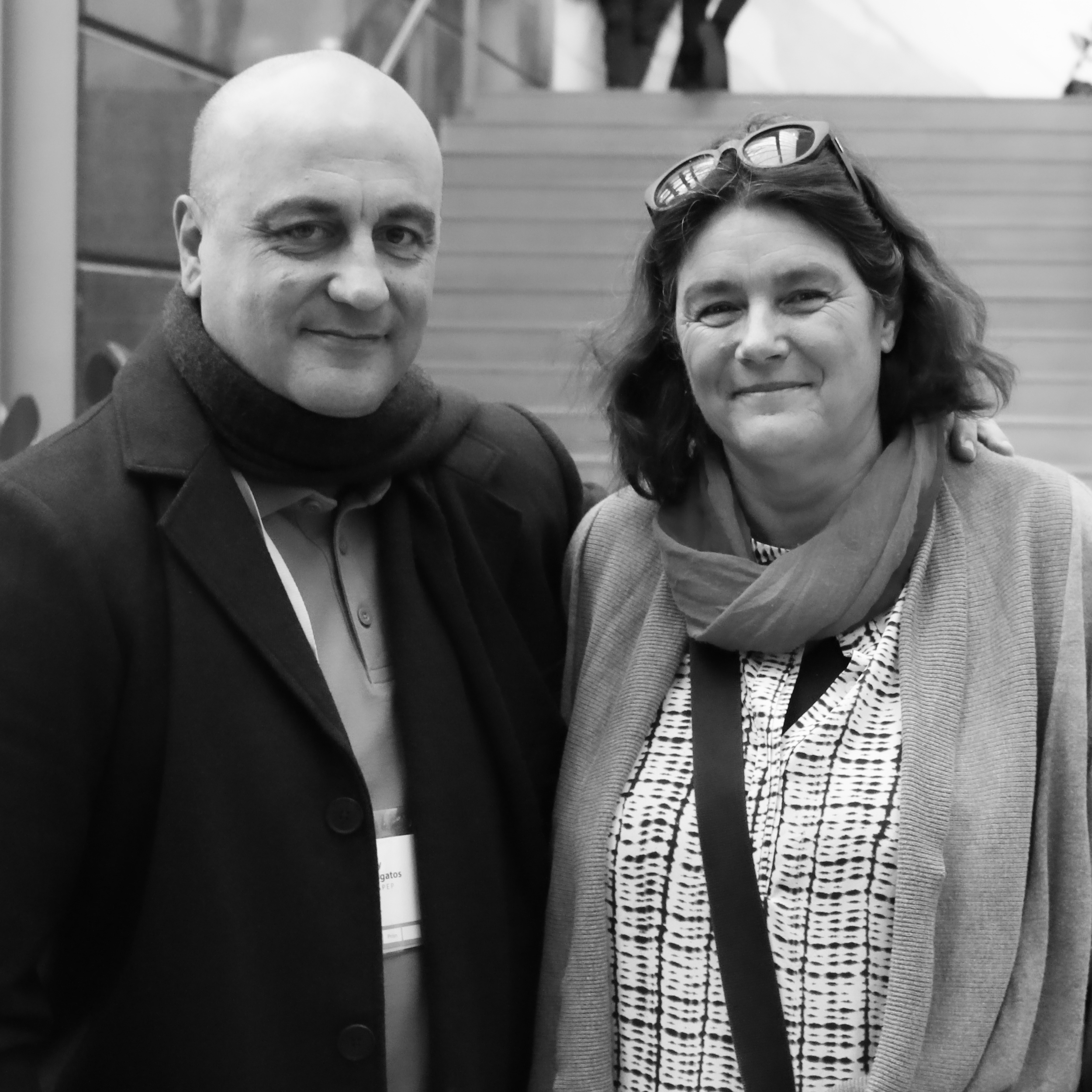 Photo: Alexander Hayes (L) Gerry Georgatos (R) Samia Goudie @ 2016 Suicide Prevention Conference, Canberra, Australia