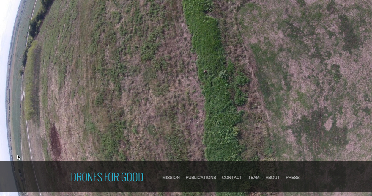 Image: Screenshot of the Drones For Good website