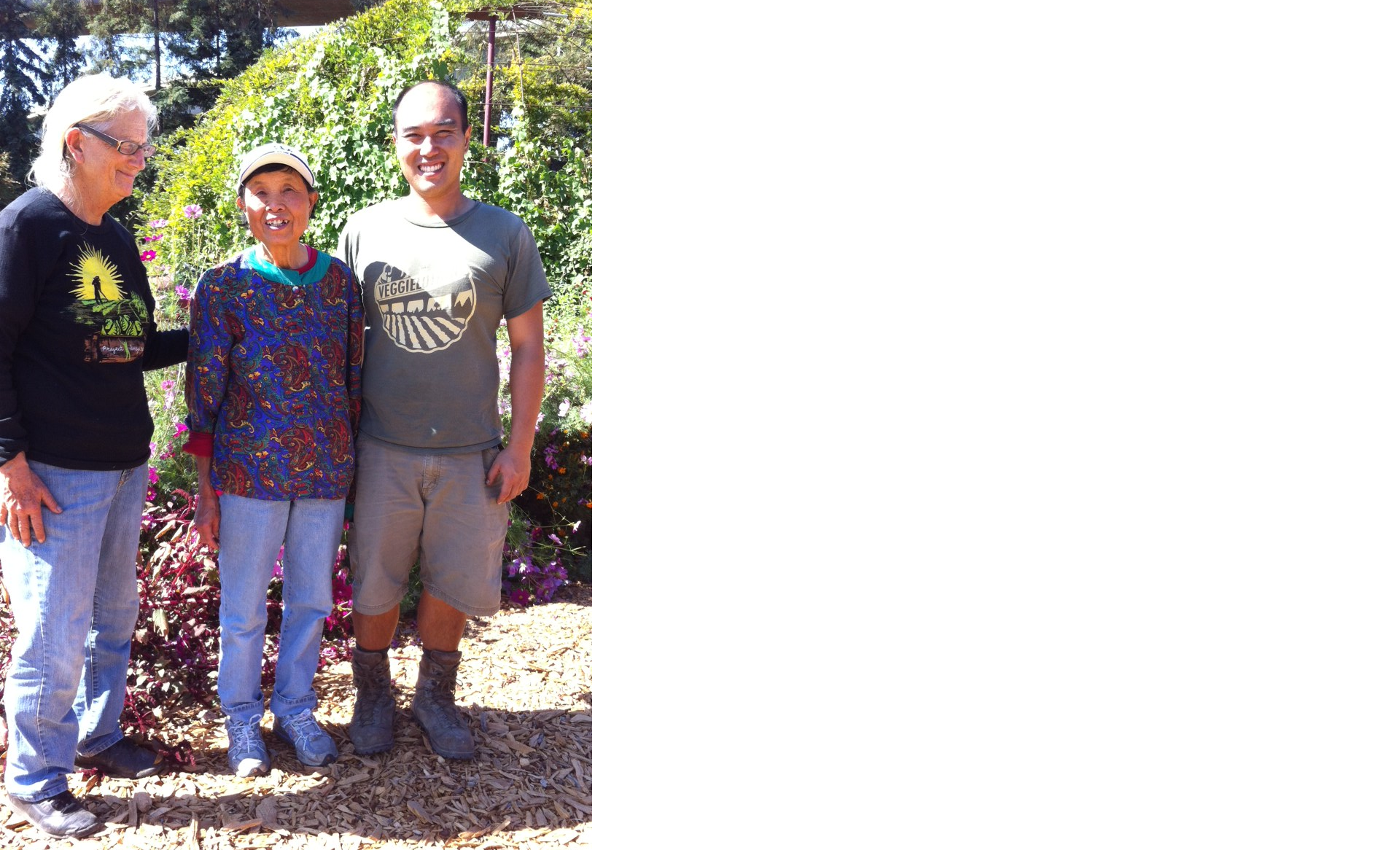 Jean with Farm Manager Will Chen & Volunteer June Magnaldi