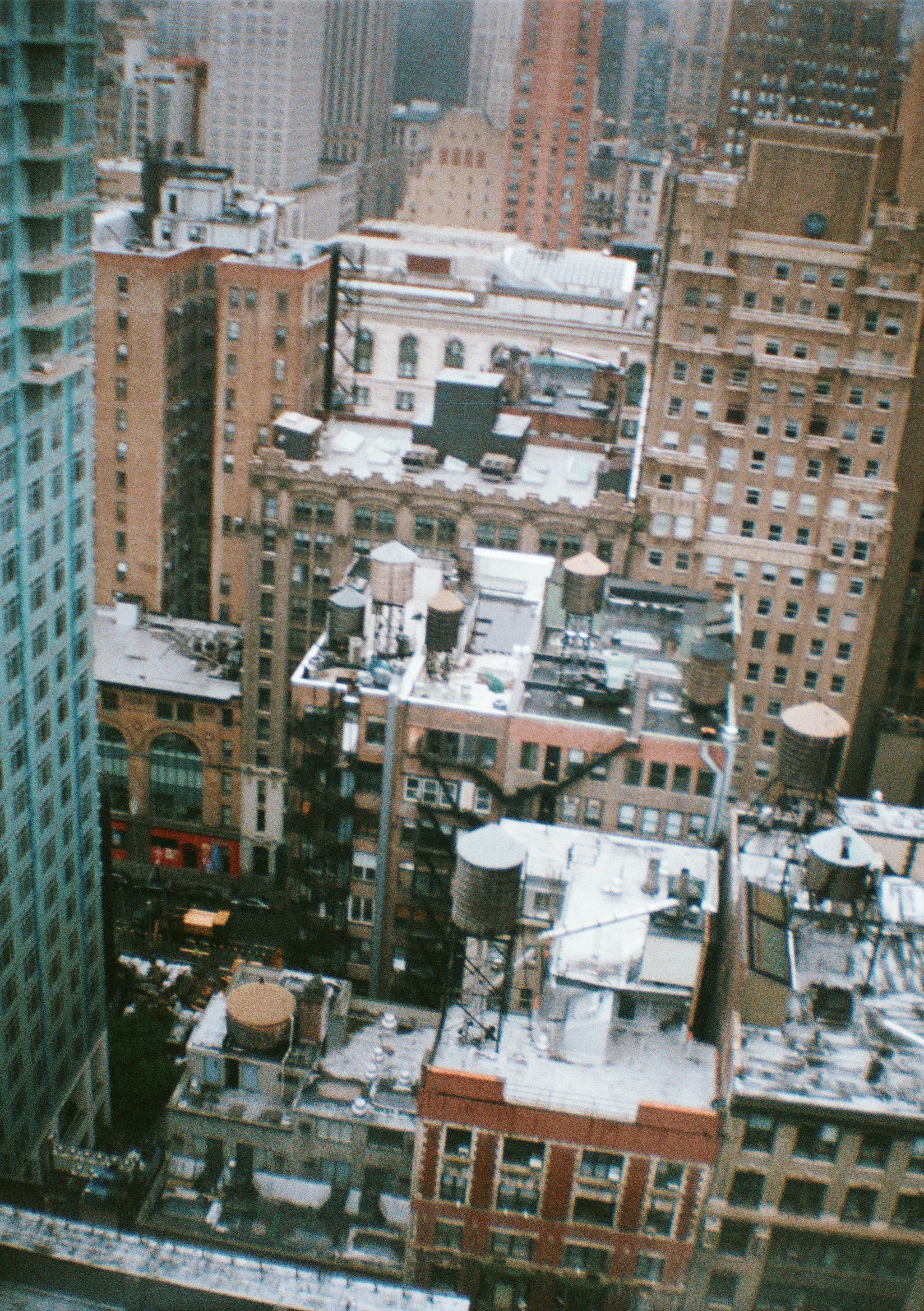 NYC roofs - 35mm - Diana Mini - Fujifilm Superia 400