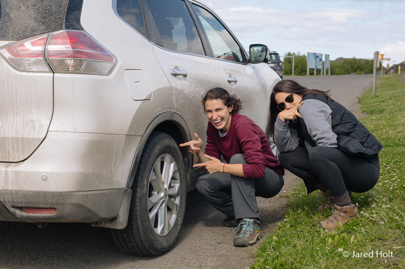 We broke this tire and had to get it fixed (don't tell our rental car company).