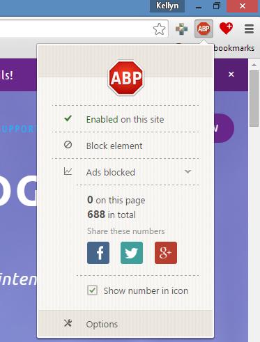 AdBlock Plus Installed in Google Chrome