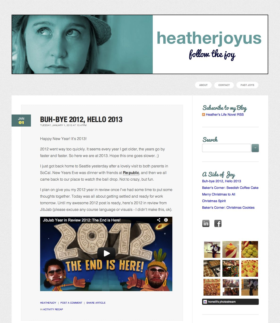 My Blog Layout Remembered