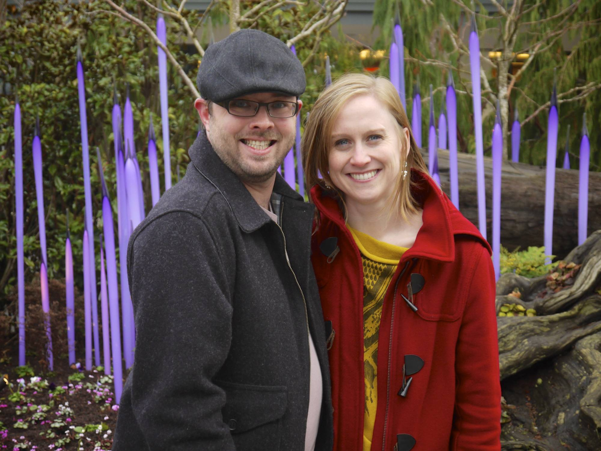 Heather and Josh at Chihuly Gardens
