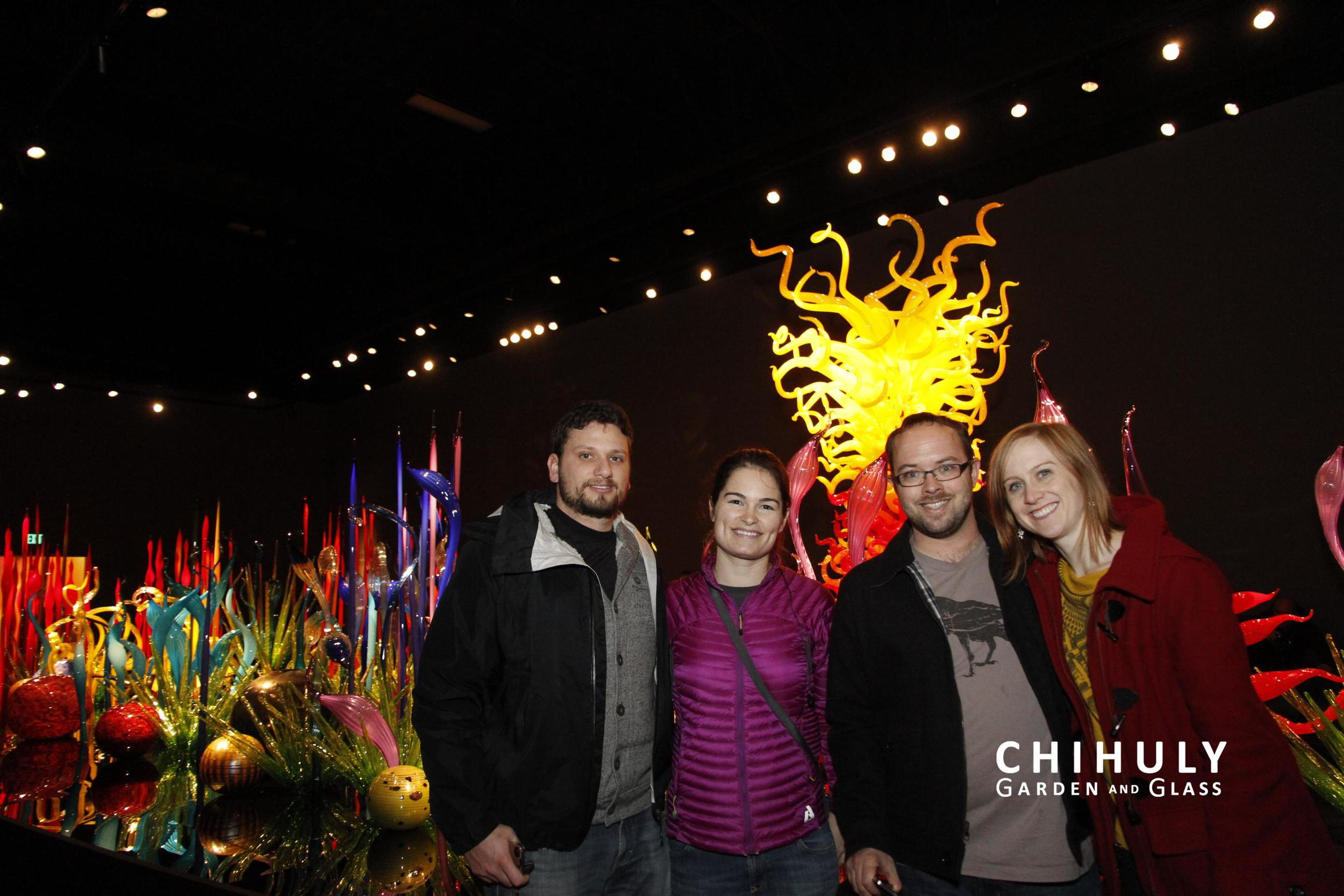 Aaron, Liddy, Josh, and Heather at Chihuly
