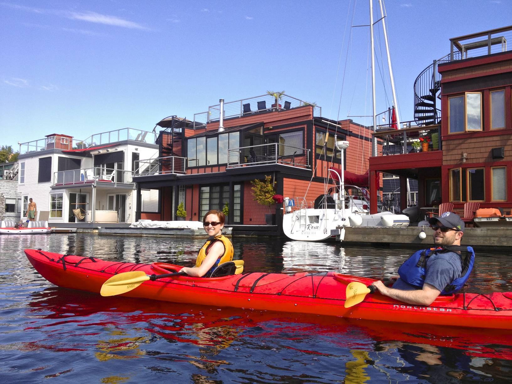 Kayaking on Lake Union