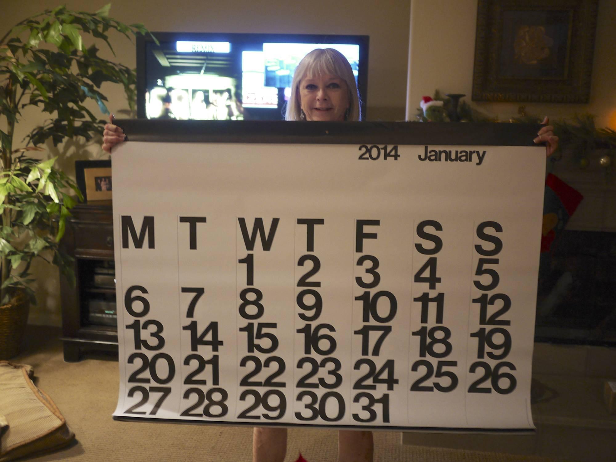 Nada with her Calendar Gift.jpg