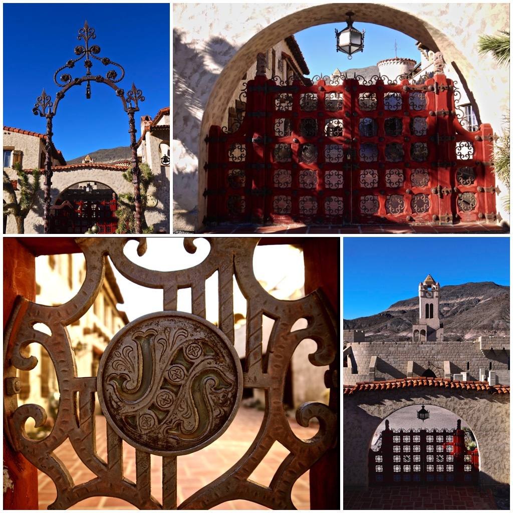 The gates of Scotty's Castle