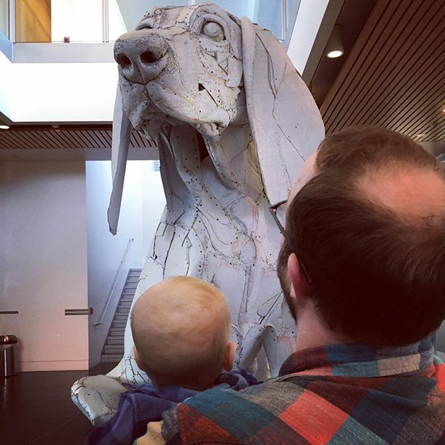 Dogs, art, and my boys #babycalebbrown