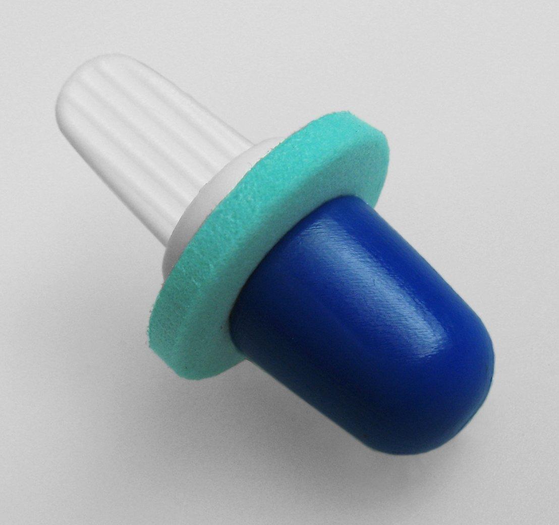 ZenPlugs Blue - Before Molding.  Ideal for preventing swimmer's ear, surfer's ear and jet lag.