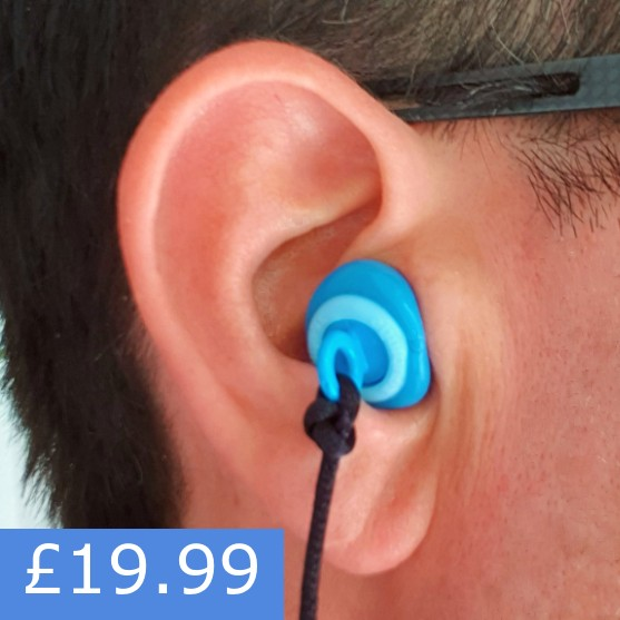 ZenPlugs Swim Comfortable Moulded PPE Ear Plugs Prevent Noise-Induced Hearing Loss