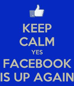 KaapCalmYesFacebookIsUpAgain