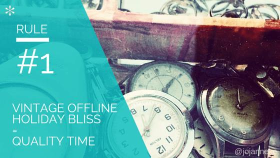 vintage offline holiday bliss