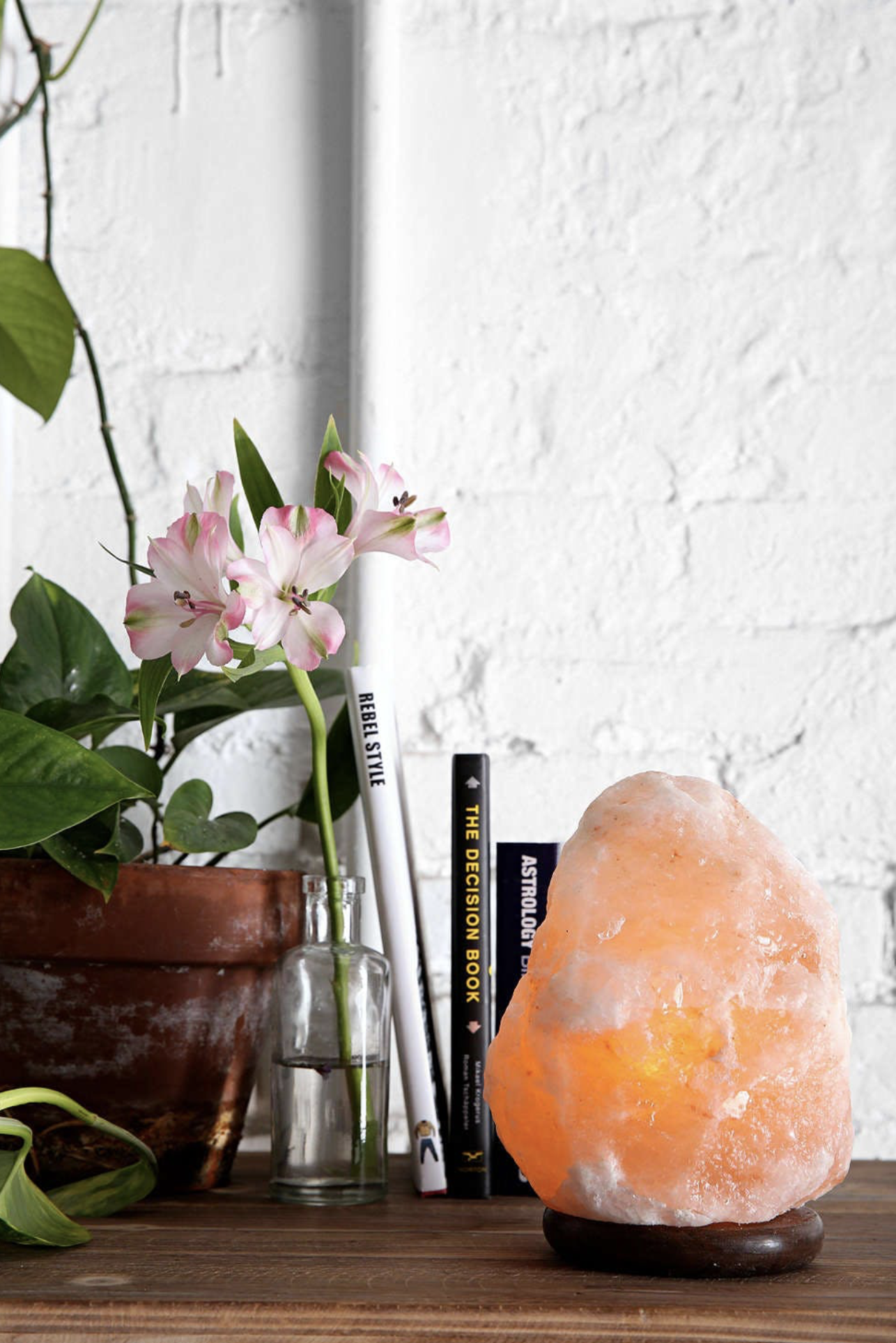 Himalayan Salt lamps - Himalayan Salt Lamps are so hot right now and another one of my favourite ways to lift the energy in a space. These beautiful lamps are able to purify and clean the air in a space by absorbing water in the air + trapping dust,pollen + pollutants. Not only can they cleanse the air and improve breathing capabilities but they remove odours too!Now my favourite thing that salt lamps do is they literally increase our energy levels! Yes, you heard right and don't we need it! Salt lamps are said to combat the positive ions that exist in our air. These positive ions really should be called negative ions ;) as they reduce the flow of blood around the body which drains our energy. But in actual fact, it is the beautiful salt lamp that produces the negative ions that are so super beneficial, and they also help neutralise the electromagnetic radiation produced by household appliances. Electromagnetics are known to cause fatigue and interfere with our natural healthy rhythms and cycles affecting sleep and concentration. There is so much exciting information available on the benefits of salt lamps, for more info head to http://negativeionizers.net/negative-ions-benefits/ .
