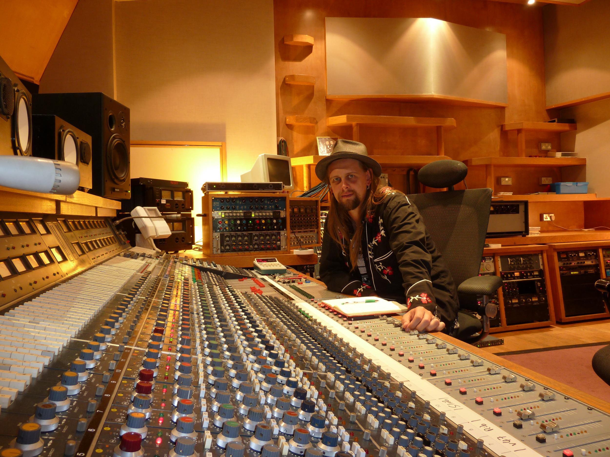 Debi Doss Recording session at KONK